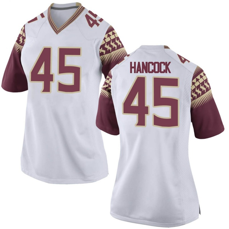 Game Women's Tylus Hancock Florida State Seminoles White Football College Jersey